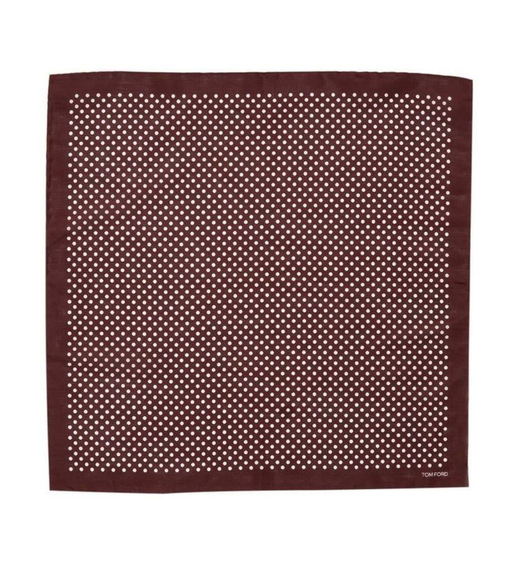 TOM FORD Polka Dot Pocket Square Pure Silk Brown BNWT Handkerchief