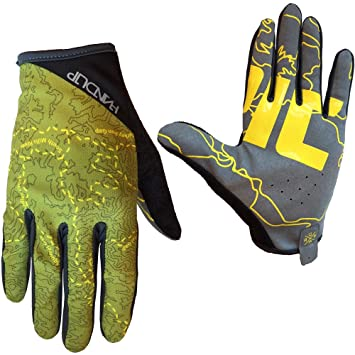 Handup Epic Trail Glove Large Olive Green/Yellow, Biking