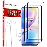 QITAYO Protector de pantalla Oneplus 8 Pro, [Dureza 9H] [3D Cobertura total] Oneplus 8 Pro cristal templado, 2 Pack
