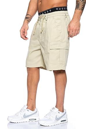 e181d1d8ffaaf8 Herren Shorts Freemen Bermuda Cargo Capri Kurze Hose Vintage Short Casual  06 (M, Beige
