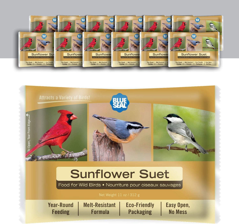 Blue Seal 11oz Year Round Premium Sunflower Suet Cake 12pk