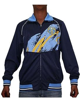 NBA Denver Nuggets Mens con cremallera chaqueta con logotipo bordado, hombre, azul oscuro, XL: Amazon.es: Deportes y aire libre