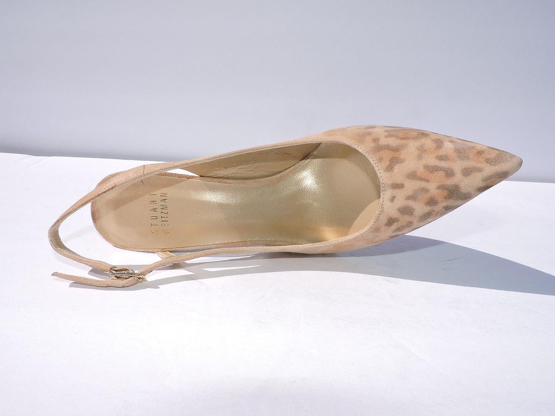 d3b706cfc66ca Amazon.com: Stuart Weitzman Women's Profile Leopard Suede Pumps, 4 ...