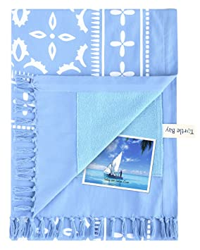 Turtle Bay - Kikoy Towel Hammam - Color : Marina Blue - Tamaño : 95 x 170 cms: Amazon.es: Hogar
