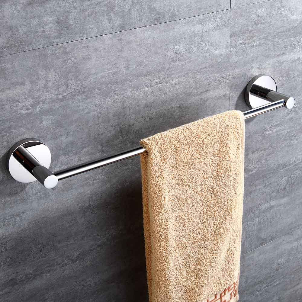 Mellewell Contemporary 12-Inch Towel Bar Wall Mounted Bathroom Organizer, Stainless Steel Brushed Nickel, 06020