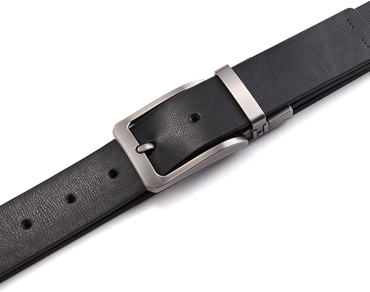 XUEXUE Mens Business Belt Pin Buckle Leather Adjustable Belt,Stylish Formal Business Work,Cowboy Wear /& Work Clothes Uniforms,Simple And Durable,A,115