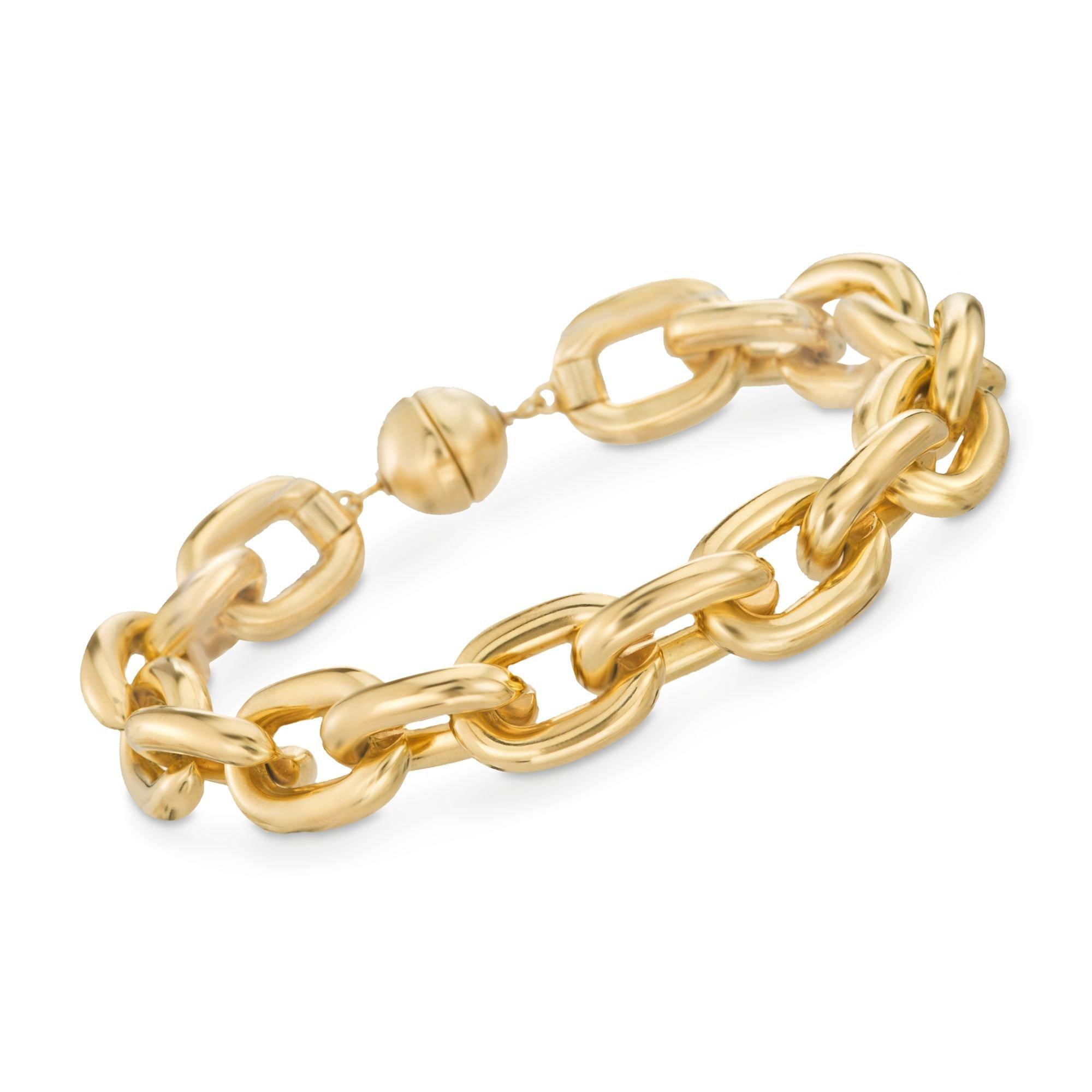 Ross-Simons Italian Andiamo 14kt Yellow Gold Chain-Style Link Bracelet by Ross-Simons