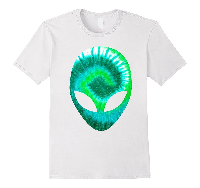 Alien Head T-Shirt Extra-terrestrial Green Holographic Glow-FL