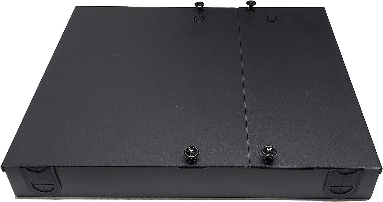 3 Meter SM Pigtails Green Adapters Steel 24 Fiber SC//APC 2x12f Splice Tray Dual Door Wall Mount