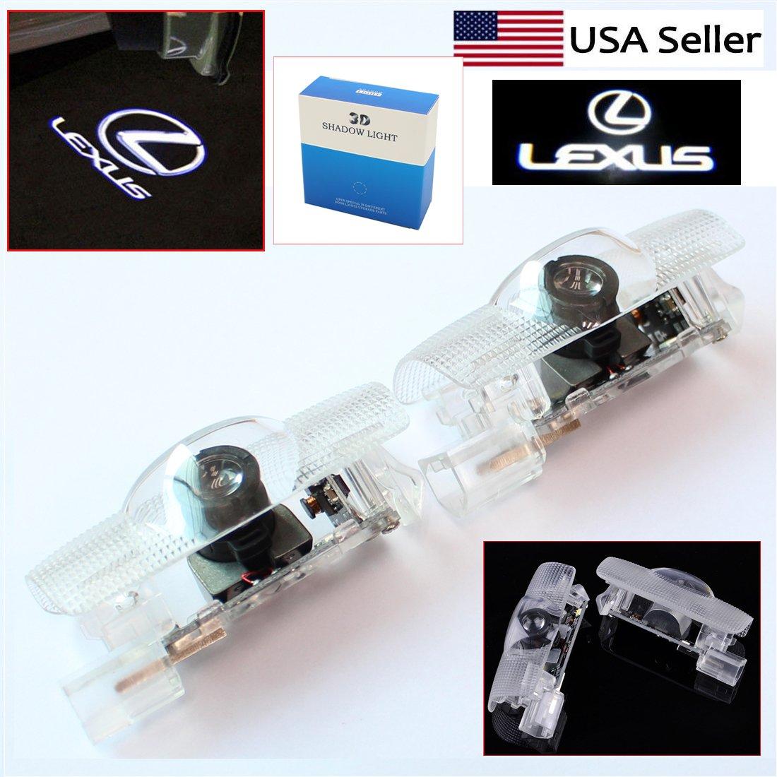 S-Union 2pcs LED Logo Laser Door Courtesy Ghost Shadow Light Replacement for Lexus ES is LS LX RX SC