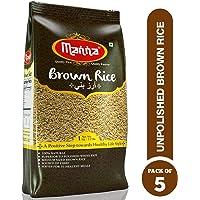 Manna Unpolished Brown Rice 1Kg (Pack of 5)