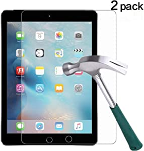iPad Pro 10.5 Screen Protector,TANTEK [Apple Pencil Compatible] Anti Scratch,Bubble Free,Tempered Glass Screen Protector for iPad Pro 10.5 inch,[2-Pack]