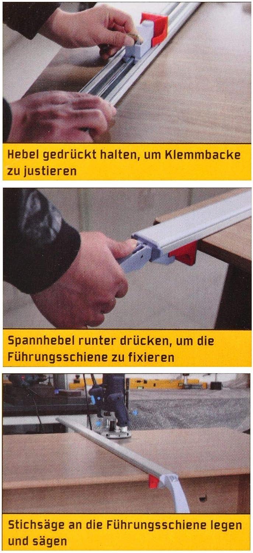 Universal Spann F/ührungsschiene f/ür Kreiss/äge Oberfr/äse Stichs/äge Klemmschiene L/änge:1200 mm