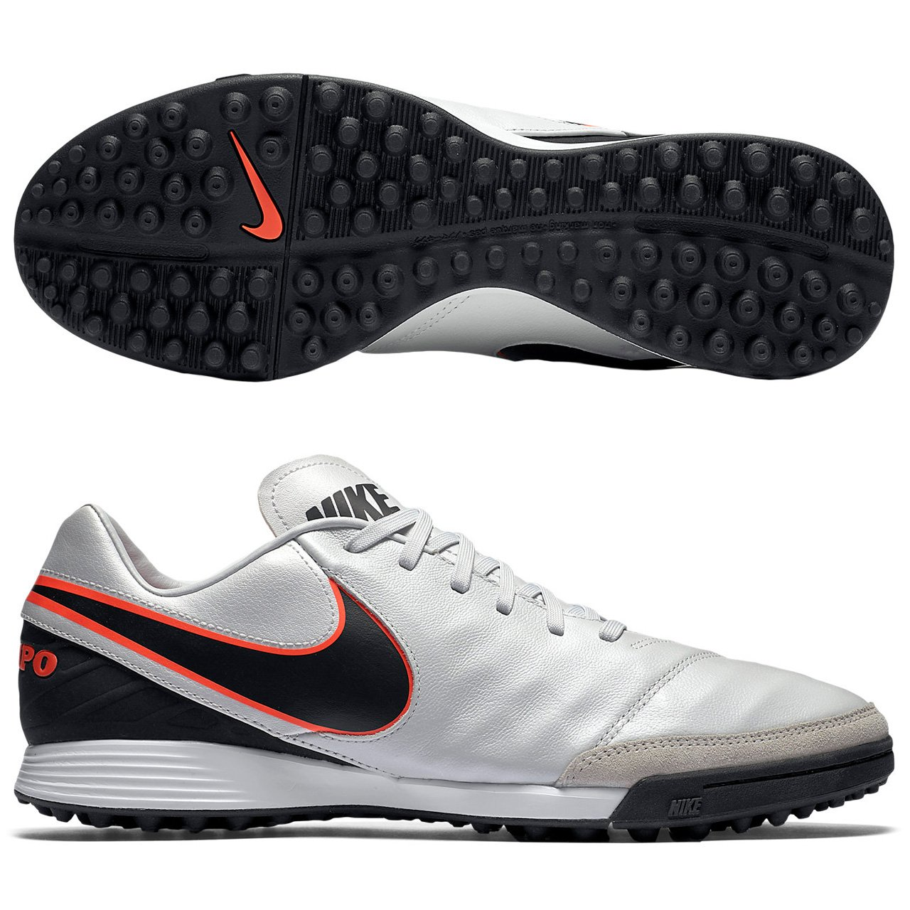 664c11ddc78 Nike Tiempo Mystic V TF Soccer Shoe Platinum Orange Sz. 6  Amazon.in  Shoes    Handbags