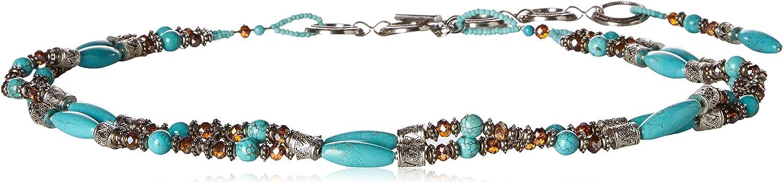 ARIAT Women's Beaded Turquoise Strand Belt