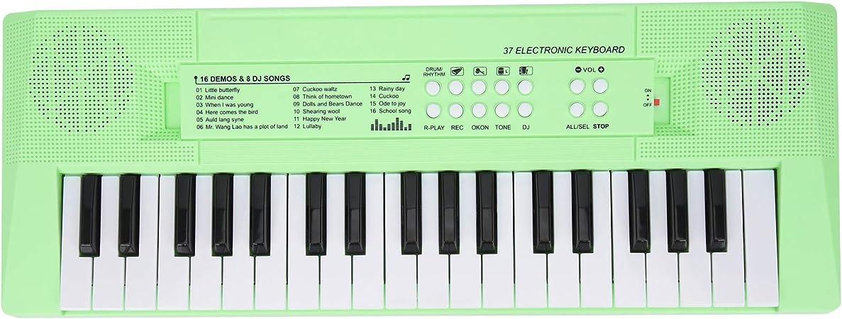 Piano de teclado electrónico, teclado digital de 37 teclas ...