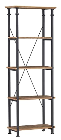Homelegance 3228-12 Factory 4-Teir Bookcase, Rustic Brownk
