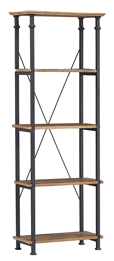 Homelegance 3228 12 Bookcase Shelves Brown Black
