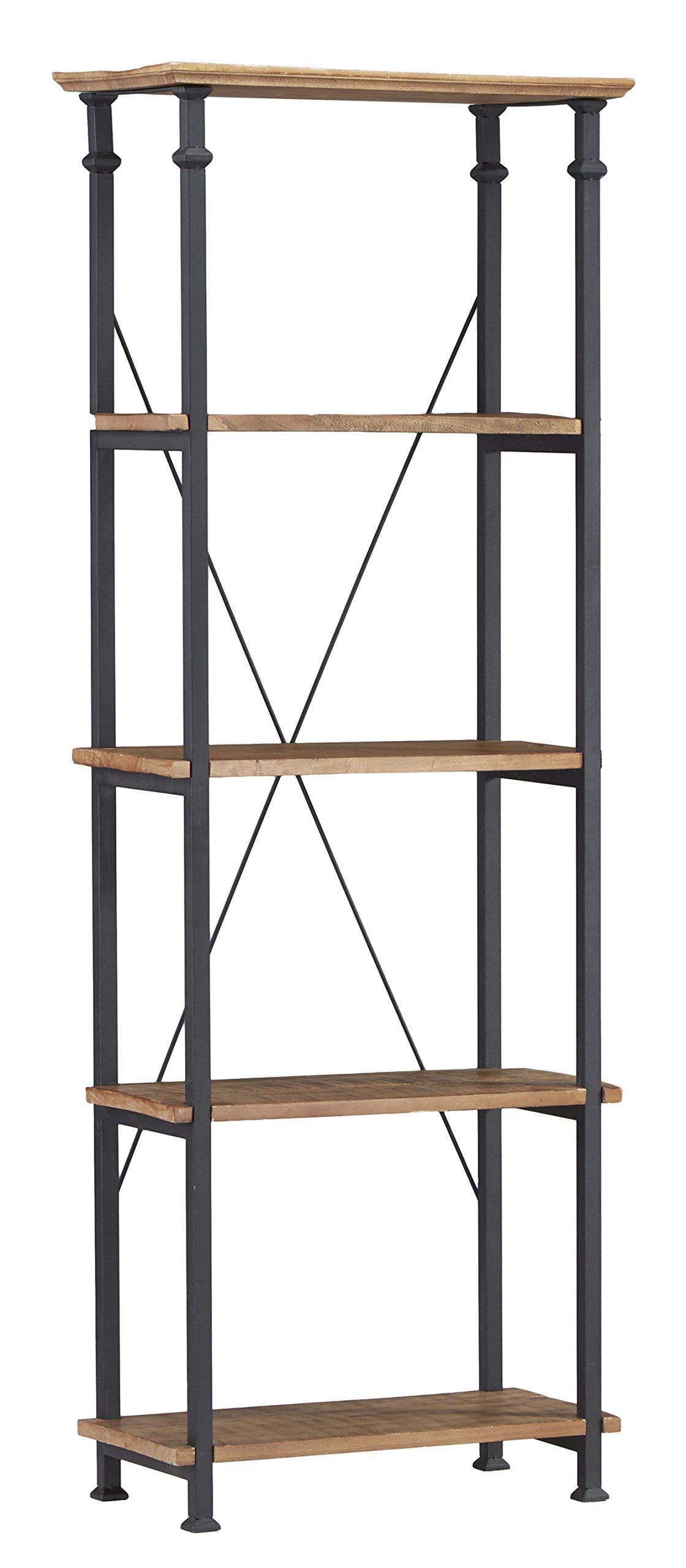 Homelegance Factory Modern Industrial Style Sofa Table, Rustic Brown 3