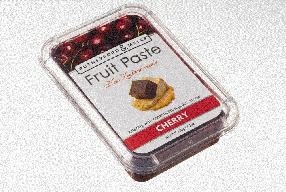 Rutherford and Meyer Fruit Paste, Cherry, 4.2-Ounce Containers (Pack of 4)