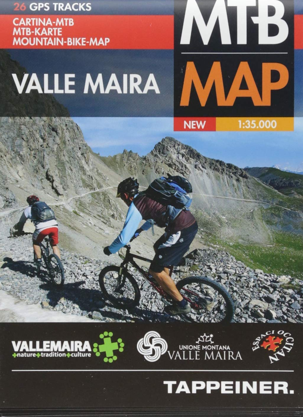 Moutainbike-Karte Valle Maira: Cartina Mountainbike Valle Maira (Mountainbike-Karten)