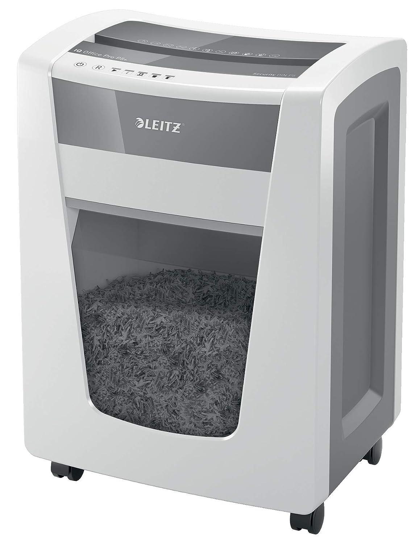 papelera de 23 l destruye 10 hojas a la vez blanco Leitz 80090000 IQ Home Office P4 Destructora de papel de corte en confeti