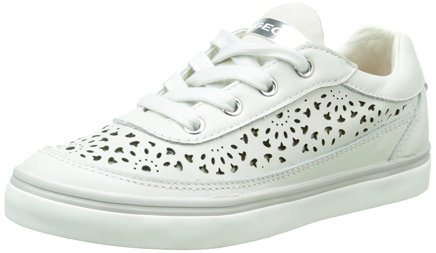 a73c915359bf Geox Girls' Ciak H Low-Top Sneakers, Blanc (C1002), 11 UK Child: Amazon.co. uk: Shoes & Bags