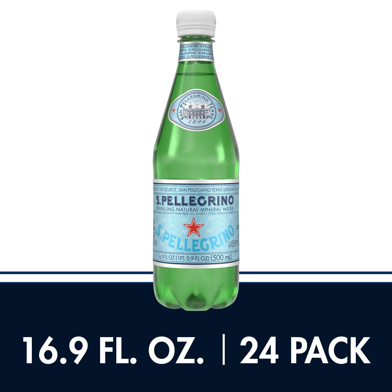 S.Pellegrino Sparkling Natural Mineral Water, 16.9 fl oz. (24 Pack)