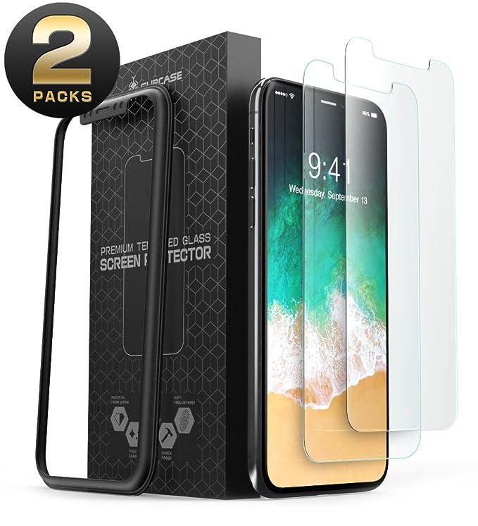 9 opinioni per SUPCASE iPhone X Pellicola Protettiva, Premium HD Vetro Temperato Schermo
