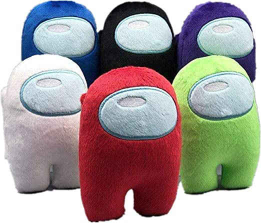 Blue 20cm Among Us Plush Figure Toy Soft Stuffed Doll for Kids Gift 3D Game Peripheral Pillow,Among Us Merch Impostor CrewMate Plush
