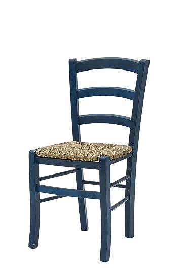 White Loft Möbel Für Alle 235 GN Set Von 2 Stühle 43x42x88 Cm Blau
