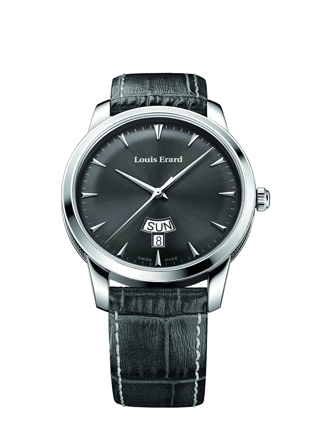 Louis Erard Heritage Collection Swiss Quarz grau Zifferblatt Herren-Armbanduhr 15920AA03. bep103