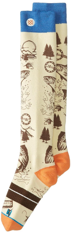 Stance E Jack Snowboard Socks Beige Orange