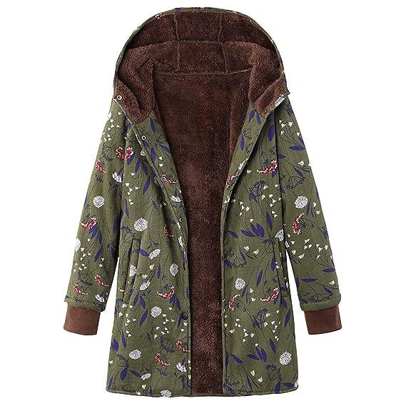 Heligen Mänte Damen Winter Mantel Große Größe Blumendruck Kapuzenpullover Winterjacke Mit Kapuze Warm Langarm Zipper Hoodie Jacke Outwear Trenchcoat