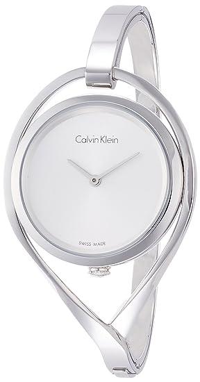 Calvin Klein Reloj Analogico para Mujer de Cuarzo con Correa en Acero Inoxidable K6L2S116