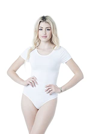 Khanomak Plain Short Sleeve Thong Bodysuit (Large 1eafed0a7