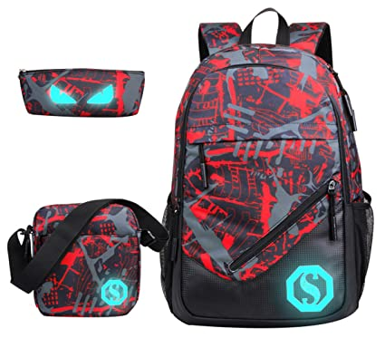 Image Unavailable. Image not available for. Color  JiaYou Boy 20L Fashion School  Bag Backpack ... 40468b92b6