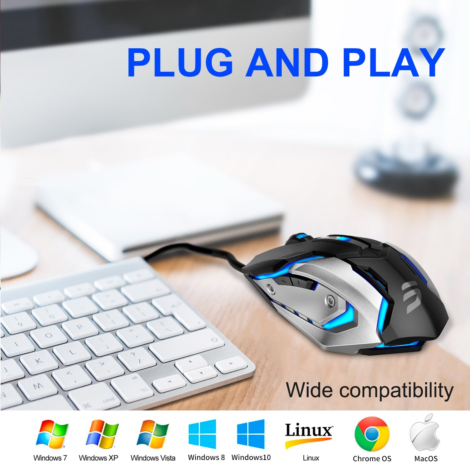 Mua sản phẩm LINGYI Gaming mouse, 6 Programmable Buttons, 4