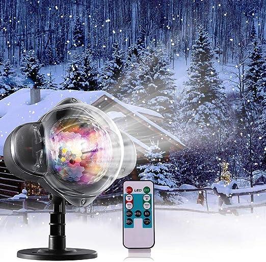 Nevadas Exterior LED Proyector de luz de Navidad Proyección a ...