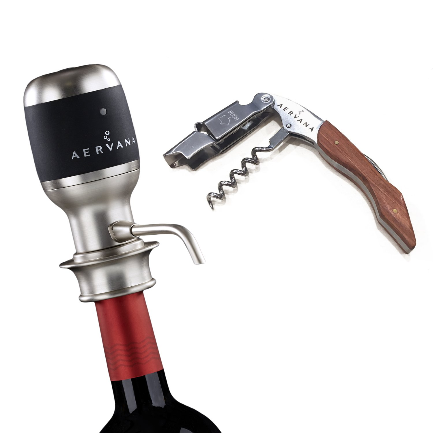 Bundle - 2 items: Aervana Original: Wine Aerator and Aervana Branded Waiter's Corkscrew by Aervana