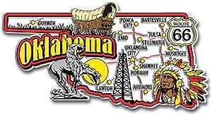 Oklahoma State Jumbo Map Magnet