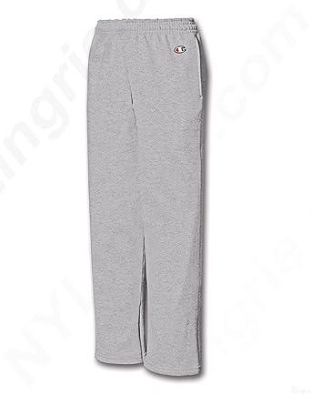 833a63ea9bfa Amazon.com  Champion Youth Double Dry Action Fleece Open Bottom Pant   Clothing