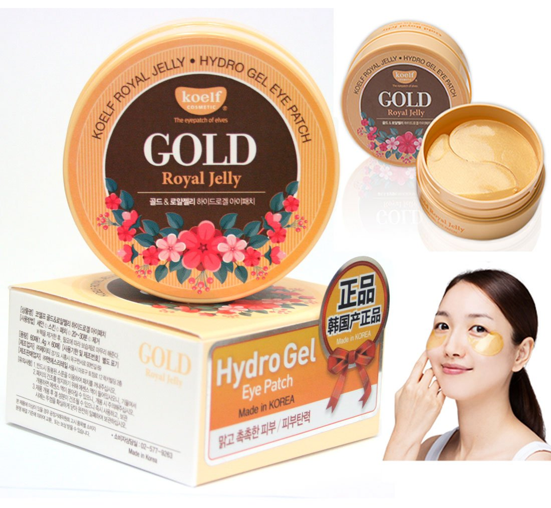 [Koelf] Gold Royal Jelly Hydro Gel Eye Patch 60pcs/30pairs / Korean Cosmetics by koelf