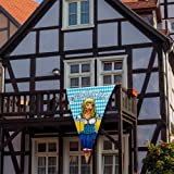 Oktoberfest Wiesn Wimpel Fahne bayrische Raute 150 x 90cm