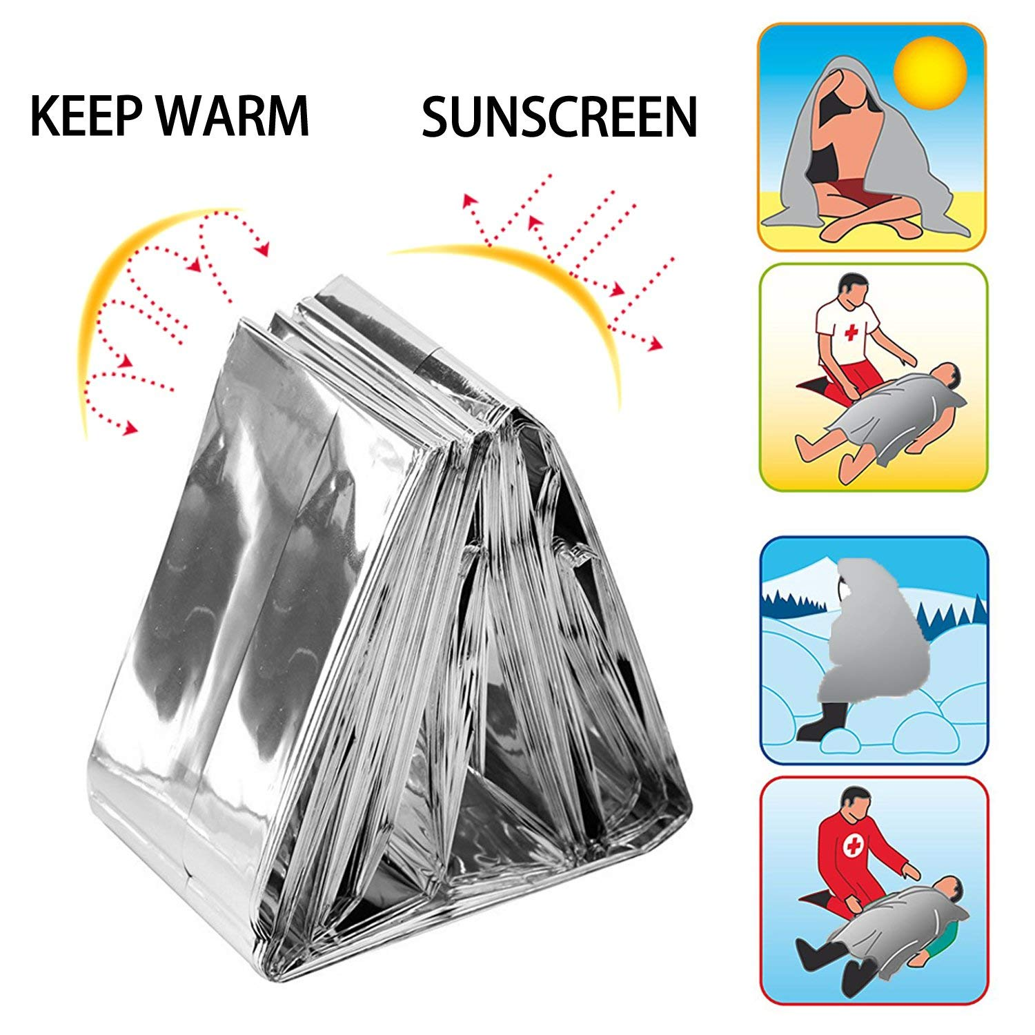 Waterproof Foil Blanket for Survival Homeless First Aid BSGP