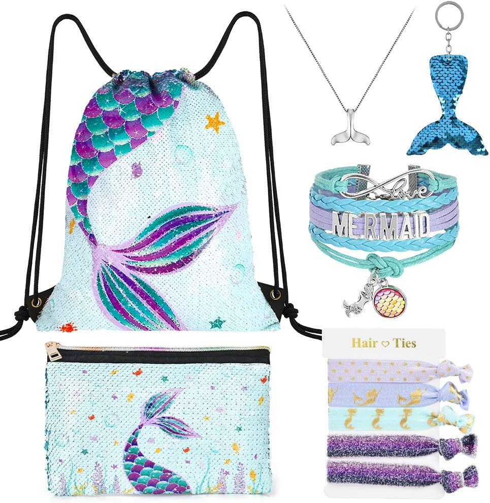 Mermaid Drawstring Pack