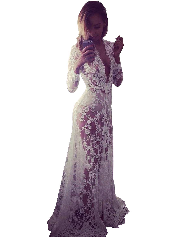 cooshional Damen Kleid Umstandskleid Maternity Kleid Jerseykleid Schwangerschafts Kleid Spitzenkleid Tank Kleid Empire Spitzen SZT030015_XXL#