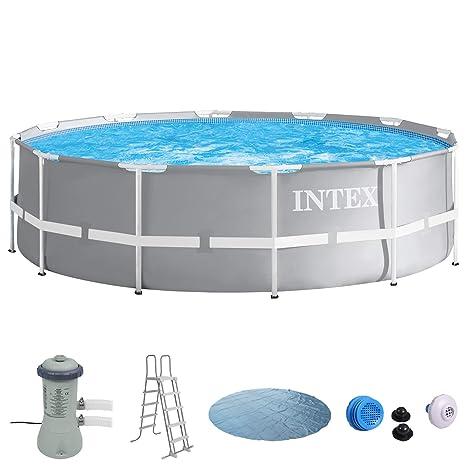 Intex 366 x 91 Piscina con bomba de filtro, seguridad Escalera, Solar Lona,