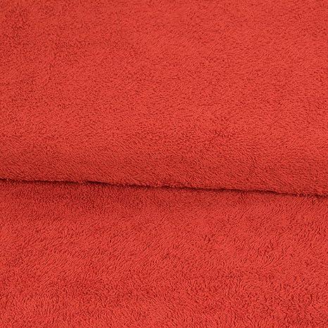 Tejido Werning de Rizo Liso Rojo Albornoz Toallas Toallas de baño – Precio válido para 0