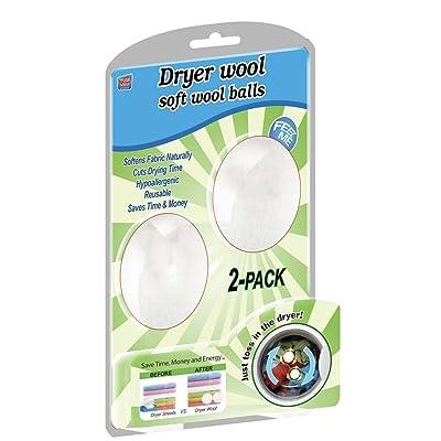 Dryer Wool Soft Wool balls- Pack of 2: Appliances [5Bkhe1207378]